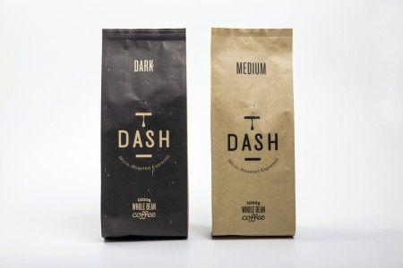 дизайн упаковки кофе Dash