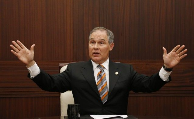 Oklahoma Attorney General Scott Pruitt (R), who forgot to check his own state's websites before filing a brief in the Supreme Court