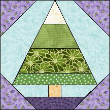 Block of Day for November 11, 2016 - Striped Little Pine-foundation/paper piecing-The pattern may be downloaded until: Wednesday, November 30, 2016.