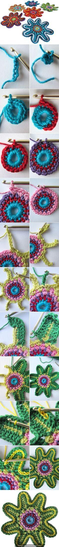 Artes com Capricho: Graficos de Crochet... Many free patterns, crochet flowers, schemas too