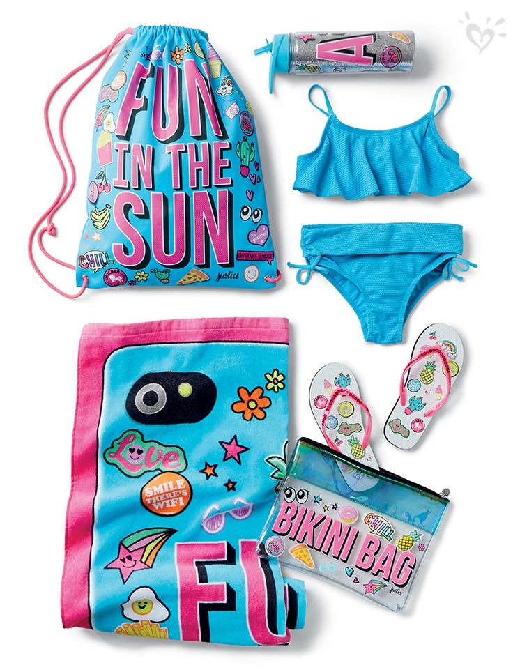 Pack your beach bag with made-to-match, splash-ready swimwear and accessories!