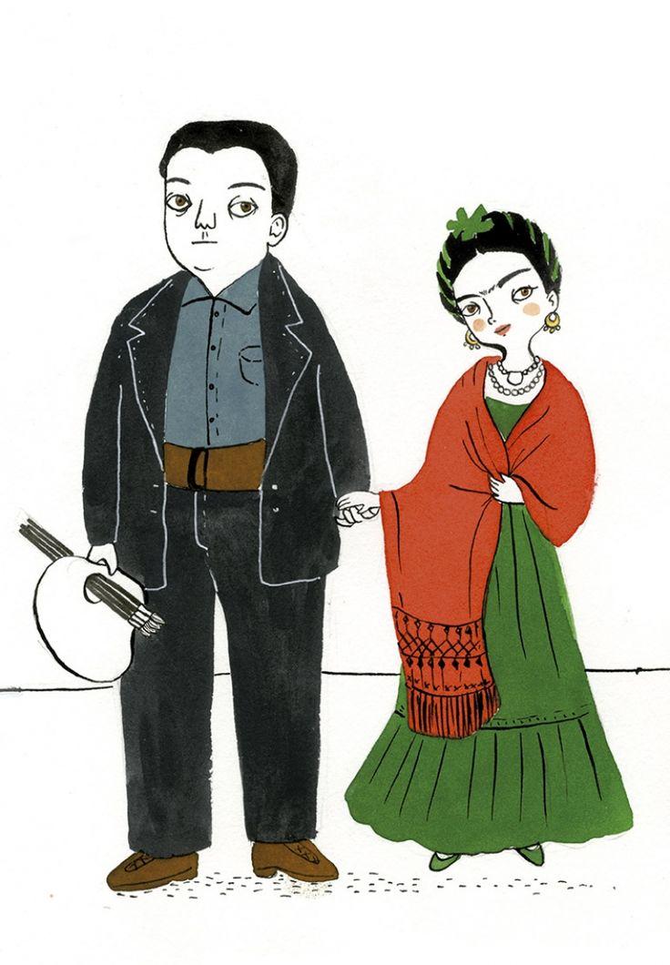 Una preciosa biografía de la pintora mexicana Frida Kahlo ilustrada con las evocadoras imágenes de María Hesse.