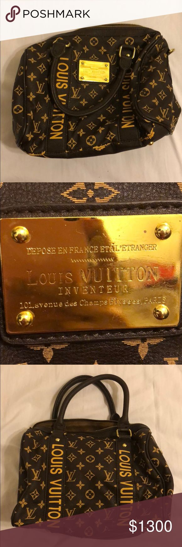 Original Louis Vuitton bag The bag is in well condition except for the bottom part as you can see. Only wore it once. Louis Vuitton Bags Shoulder Bags
