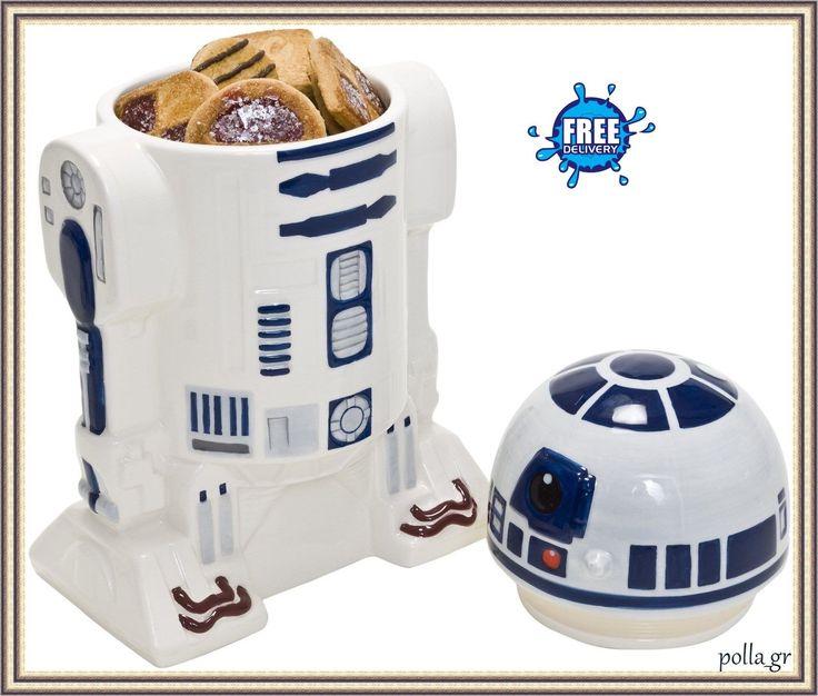 Cookie Jar Storage Kitchen Biscuit Lid Star War Figures R2D2 Collectable Ceramic | eBay