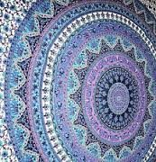 Purple and teal wall tapestry ~SheWolf★