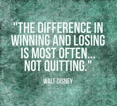 On never giving up: | 16 Walt Disney Quotes To Help Guide You Through Life