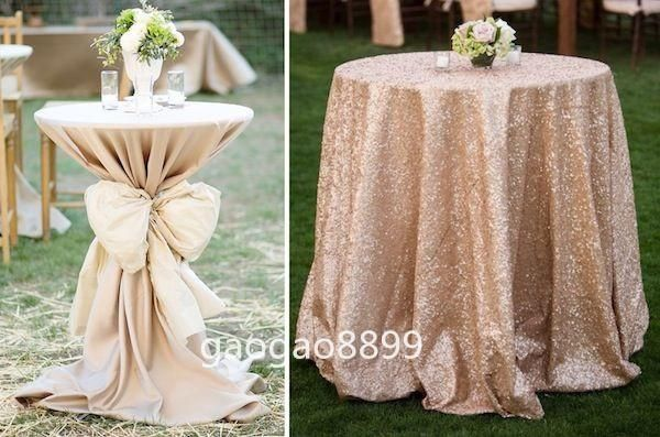 Covered Pub Tables And Sequined Table Clothes Fancy Shiny Glitter Gold Sequins 132 Table Coverings 90 Inch Round Tablecloths From Gaogao8899, $20.11| Dhgate.Com