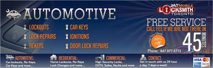 24-7 locksmith automotive locksmith toronto