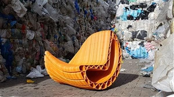 Amsterdam Unveils Two 3d Printed Sofas Each Made Up Of 3 000 Plastic Bags With Images Printed Sofa 3d Printed Furniture