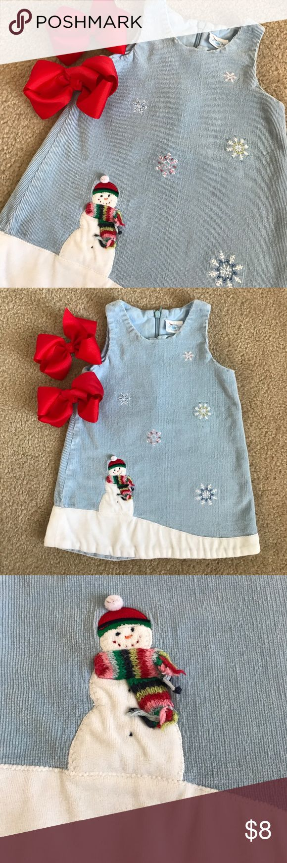 ❄️☃️Hartstrings Snowman Christmas Jumper Dress Adorable for Christmas and Winter! Small spot - see pic. Smoke-free, pet-free home. Bows not included. Dresses Casual