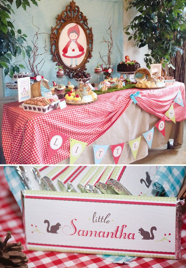 Woodsy Little Red Riding Hood Baby Shower- or First Birthday?