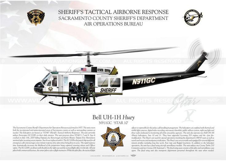 Sacramento Sheriff's Tactical Airborne Response UH-1H
