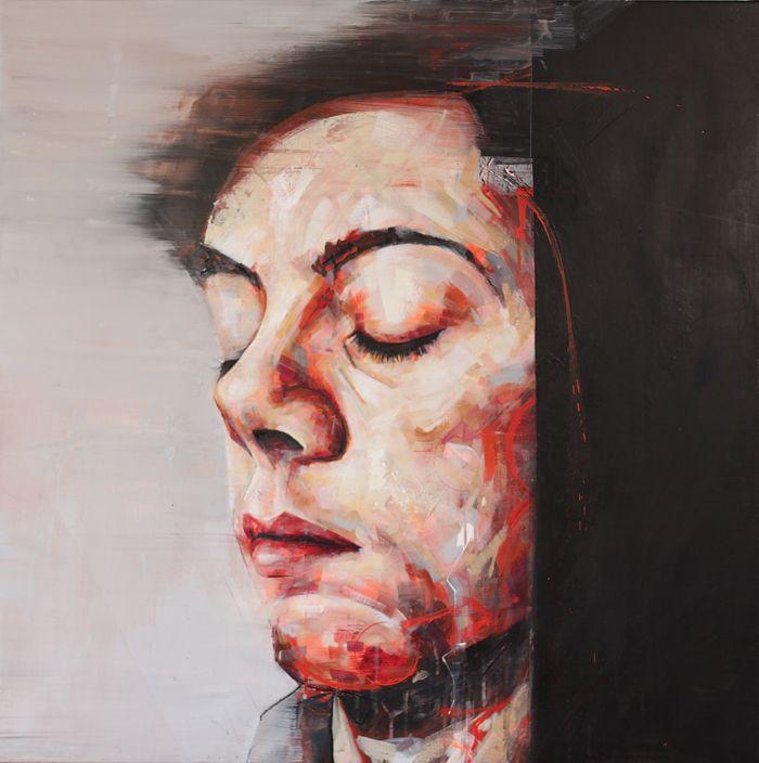 Pierre Chabiron, self portray, art, peinture, acrylic, couleur, contemporain