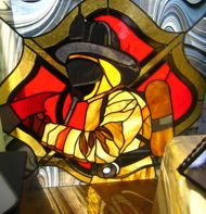 17 Best Images About Stained Glass Firefighter On
