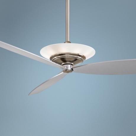 """60"""" Minka Aire Moda Brushed Nickel Ceiling Fan -"""