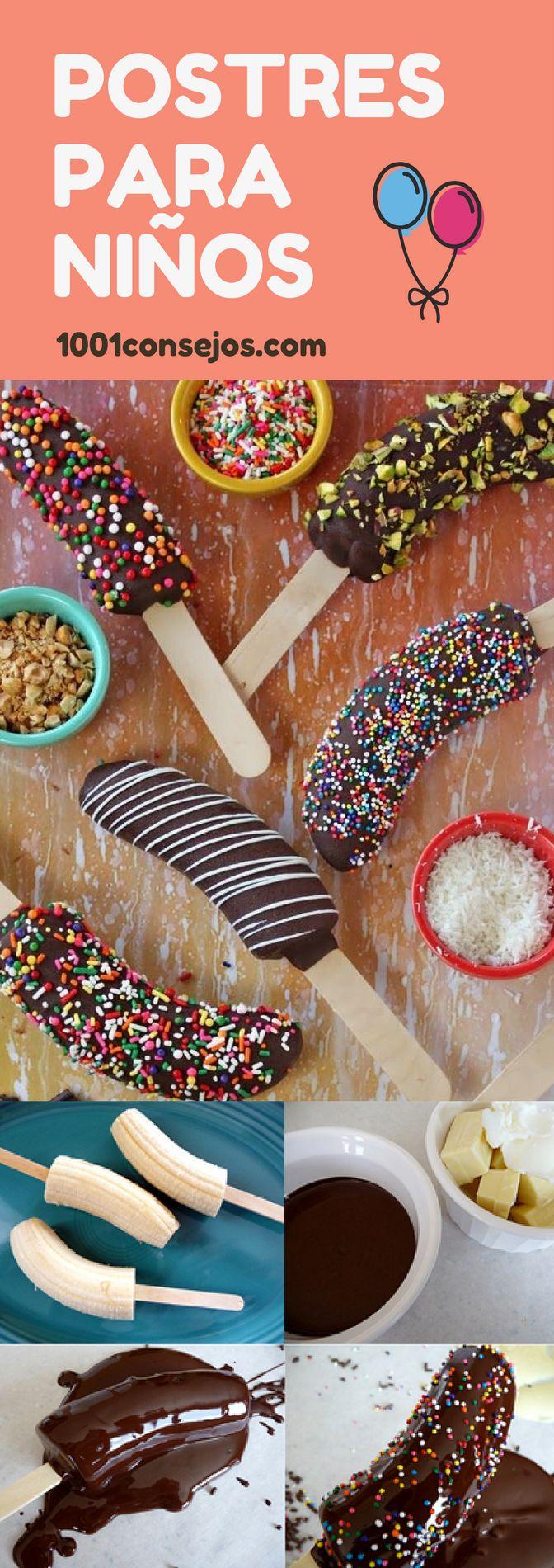 ¡Consiente a tus pequeños con estos deliciosos postres! | postres para niños fáciles | postres dulces para niños | postres fáciles recetas. | #postresparafiestas