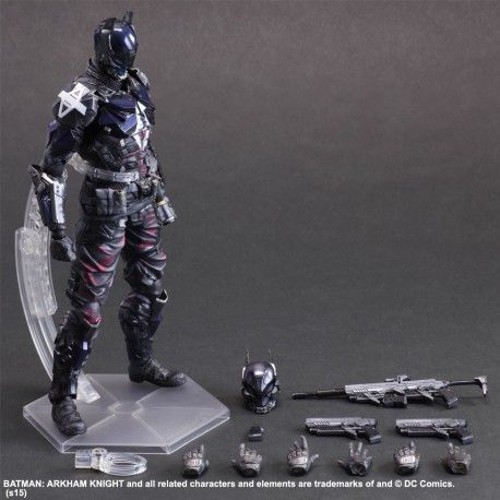 Dc comics play arts kai batman arkham knight - arkham knight - figurine articulee