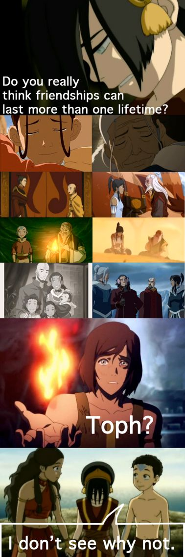 I am absolutely loving how they have brought back all the old characters, except for Aang, of course, who is still there through Korra.