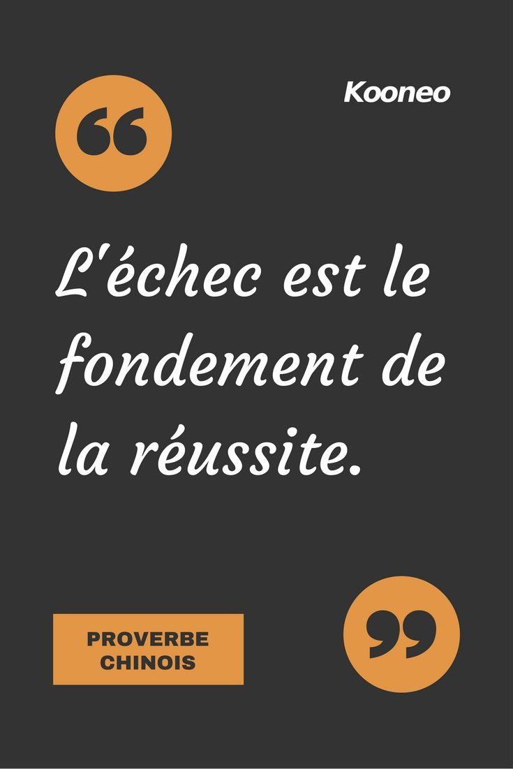 """[CITATIONS] """"L'échec est le fondement de la réussite."""" PROVERBE CHINOIS #Ecommerce #E-commerce #Kooneo #Proverbe #Proverbechinois #Réussite : www.kooneo.com"""