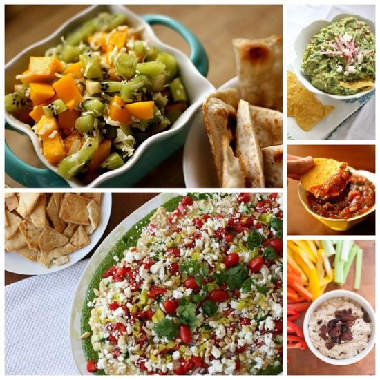 A collection of healthy potluck recipes from Perry's Plate and around the webs!