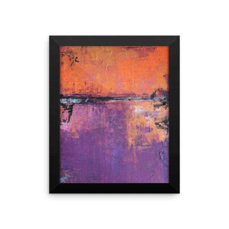 Poetic City - Framed Art Print