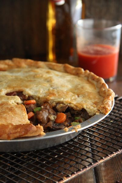 My Grandmother's Cottage Pie. Tender beef, carrots, celery and a luscious brown gravy, topped with the easiest of crusts - just dump and roll! My toddler ate them up. #cottagepie #potpie #onepot #beef