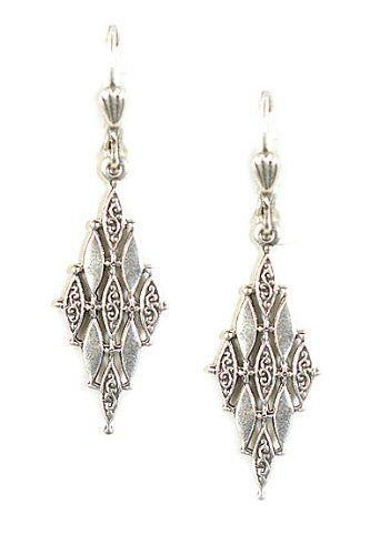 Clara Beau Sterling Silver Plated Art Deco Diamond Design Marquise Dangle Earrings Clara Beau, JEWELRY AND GEMS if you wish to buy just CLICK on AMAZON right HERE http://www.amazon.com/dp/B00C27N75Y/ref=cm_sw_r_pi_dp_zjg2sb0JE4K0TT1W