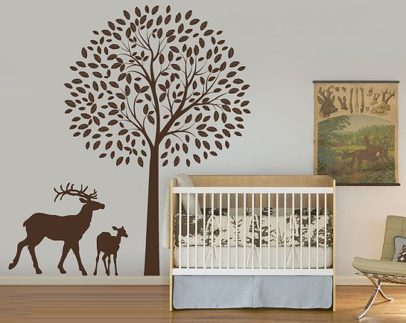 Deer Wall Decals | Large Deer Wall Decal Decals And Skins #qxmall  #DeerWallDecals #
