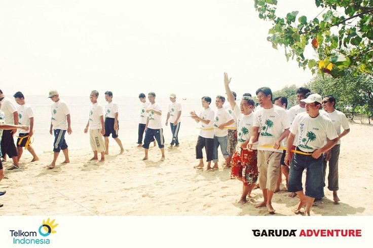 Kegiatan outbound PT Telkom di pulau bidadari jakarta,  Garuda Adventure - call 08777-349-0007 - http://www.garudaadventure.com