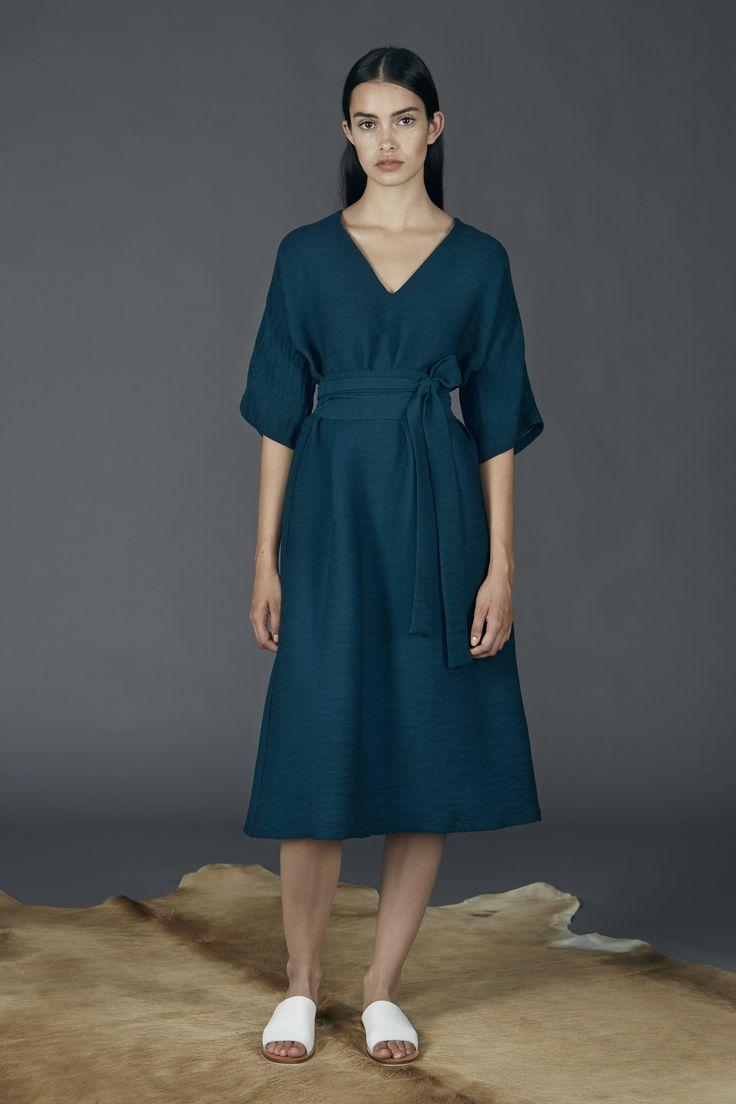 Kyoto Dress - Petrol Green