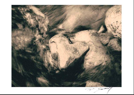 Heart Rock in Water.©  Photo Art Wall Art by SwankyPhotographic