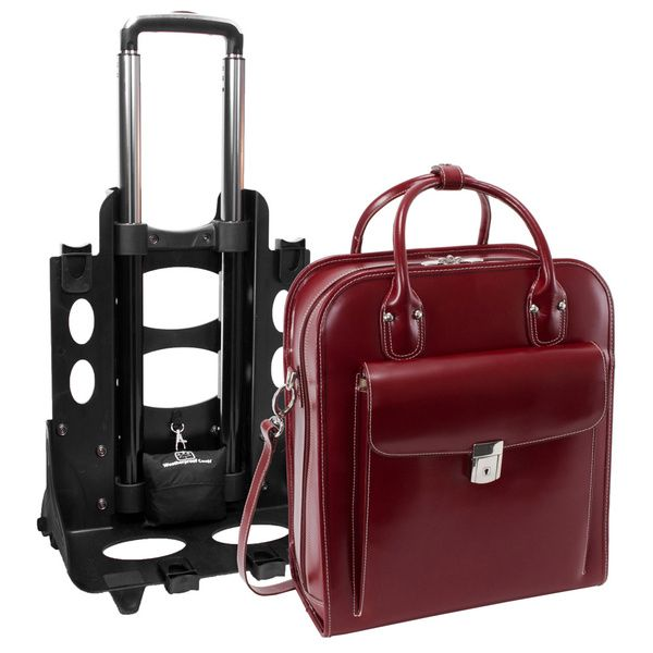 Navigate even the most crowded airport with ease thanks to the smooth gliding wheels on this rolling laptop case. Offering the supreme comfort and quality that only Italian leather provides, this lapt