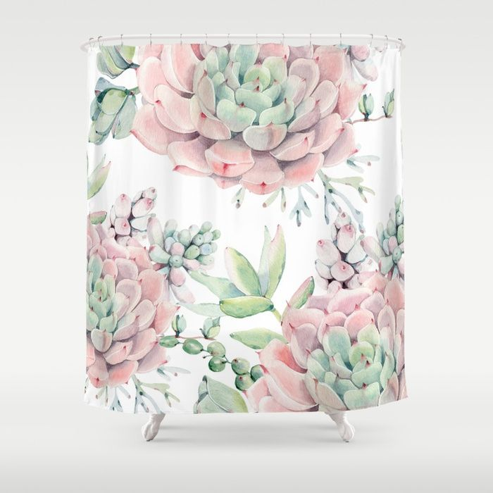 Buy Pink Succulents By Nature Magick Shower Curtain By