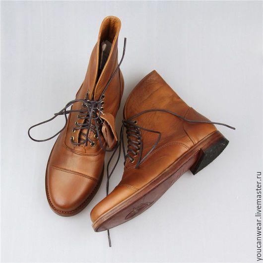 Обувь ручной работы. Заказать Ботинки кожаные коричневые