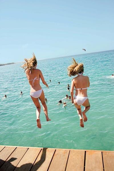 Favorite summer moment... just before the splash!