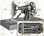 Click here to enlarge image and see more about item smm820b: PRINTED Windsor B Montgomery Ward by National vibrating shuttle sewing machine manual (smm820b)