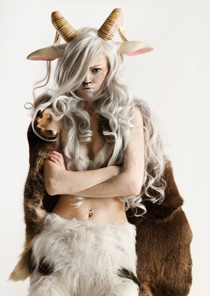 This is the prettiest/poutiest satyr you'll ever see.   Photo by Anders Hansen. I LOVE her ears and hair.