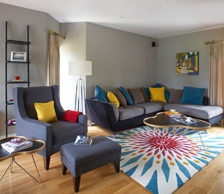 Sumptuous Leaning Bookshelf In Living Room Contemporary With Ideas Next To Funky Rug Alongside