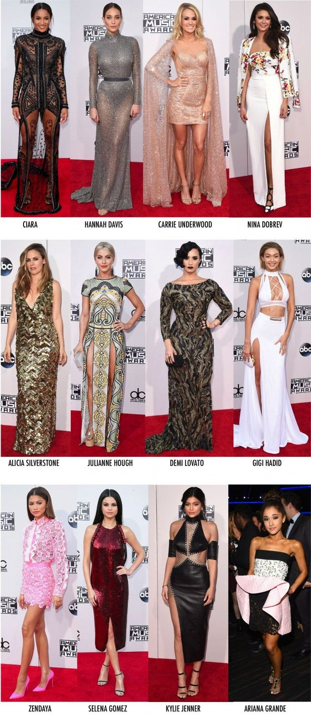 OS LOOKS DO AMERICAN MUSIC AWARDS 2015 - Fashionismo