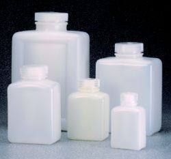 Nalgene™ Rectangular HDPE Bottles with Closure: Bulk Pack
