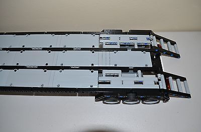 "LEGO TECHNIC BLACK/GRAY CUSTOM FLATBED TRAILER 25""Long 8258/8285/8436/9397/42043"