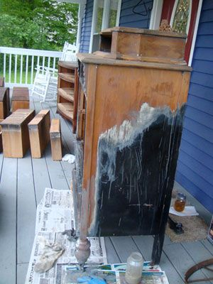 Great suggestion on stripping stain (and paint!) from wooden furniture(found at Goodwill, of course!). Perfect for DIYers!