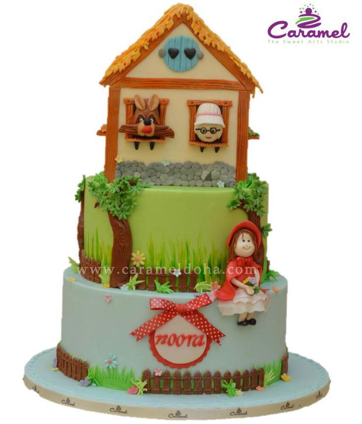 Cake Decorating Qatar : 17 Best images about Little Red Riding Hood Cakes on ...