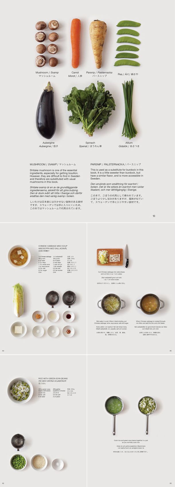 """Guide to the foreign Japanese kitchen"" cookbook - by Moé Takemura. showing how to #cook Japanese #food using locally available ingredients in Sweden"