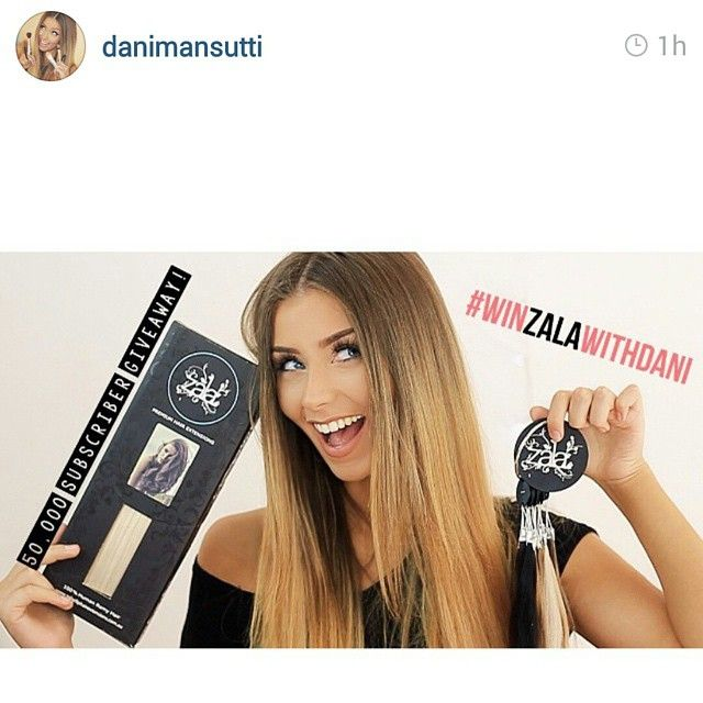 We love Give away's!  ZALA hair extensions up for grabs over on Dani Mansutti;s YouTube