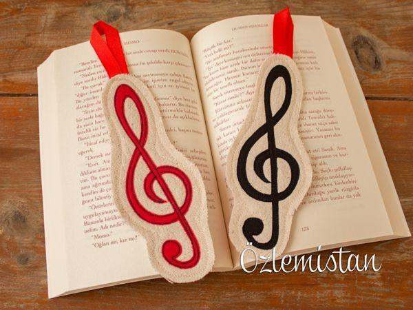 Müzik tutkunlarına özel sol anahtarı kitap ayracı