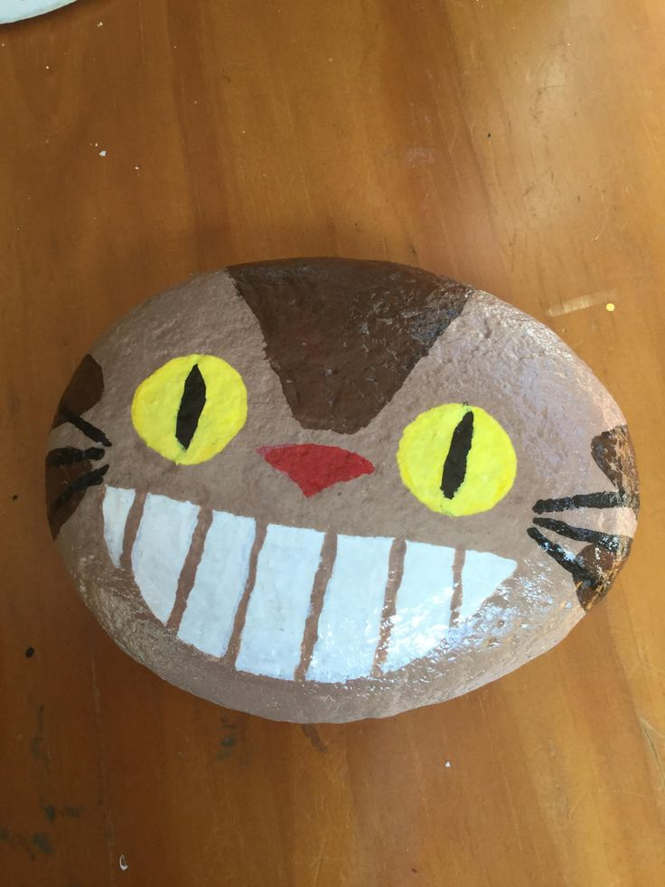 Hand painted Totoro Cat Bus cat. by JustEnjoyMyShow on Etsy