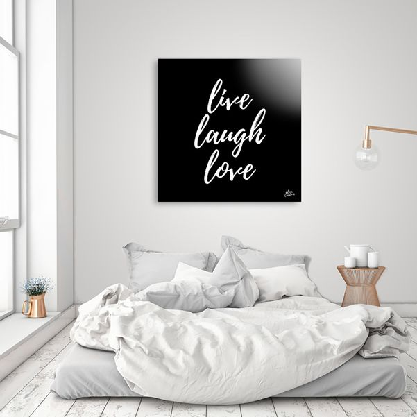 Discover «live laugh love», Numbered Edition Aluminum Print by Elina Koutsokera - From 55€ - Curioos