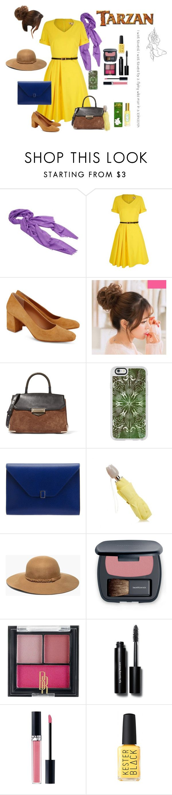 """""""Inspired by Jane"""" by capfan2014 ❤ liked on Polyvore featuring Faliero Sarti, Yumi, Maryam Nassir Zadeh, Alexander Wang, Casetify, Valextra, Furla, Chico's, Bare Escentuals and Black Radiance"""