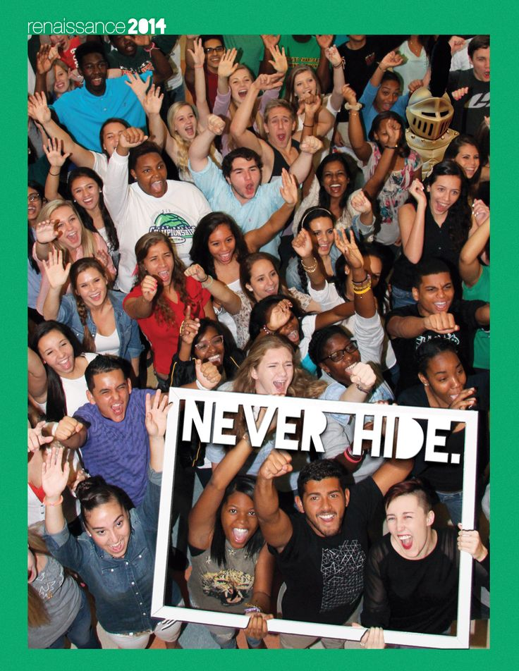 "4-color lithocote yearbook cover, silkscreen, matte laminate, UV varnish. Suncoast High School / ""Never Hide."""